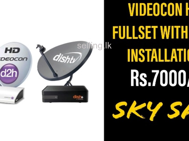 Videocon HD & DISH YV NXT HD Connection Colombo & Gampaha Services Srilanka