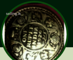 British Indian silver coin 1920