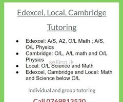 Edexcel, Cambridge and Local, Science and Math tutoring. Individual and Group.