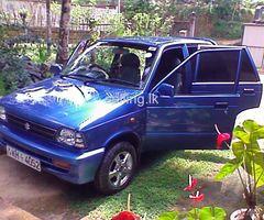 MARUTI CAR FOR HIRE