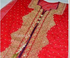 Pakistani Chiffon Georgette Lehenga (Semi Stitch)