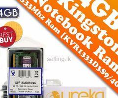 KINGSTON DDR3 / DDR4 LAPTOP RAM