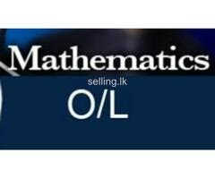 O L English medium Mathematics.