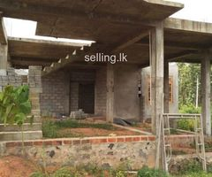 House for sale (half constructed)