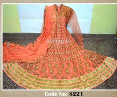 Indian embroided stone worked rich wedding /party wear