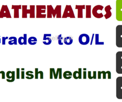 Mathematics - English Medium