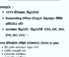 Security Officer & CCTV Operator
