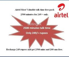 Airtel 2500 minutes for 249 only