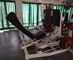 leg press machine and olympic wheels for sale