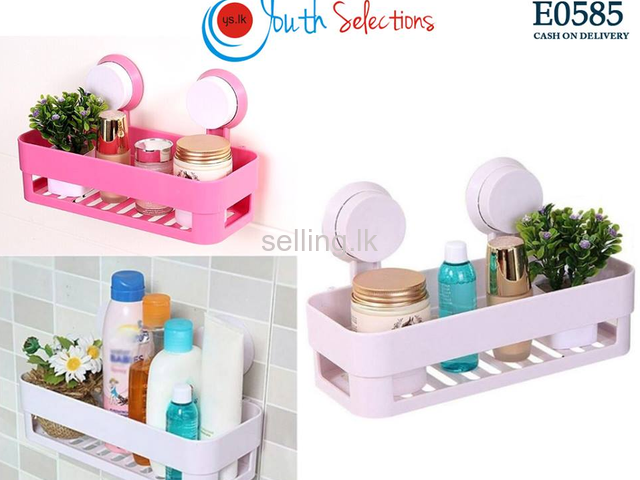 Bathroom Shelf With Suction Rack Organizer Selling Lk In