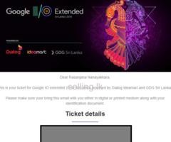 Google I/O 2018 Ticket