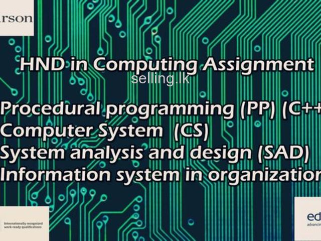 Assingment Undertaking for HND in computing Students or any others