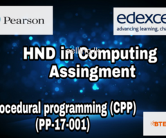 HND in computing (PP-17-001) Pearson Edexcel Assignment