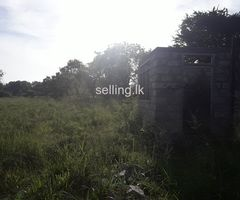 Half contracted house with land for sale