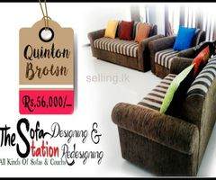 Quinton Brown 3 + 2 +1 Sofa Set