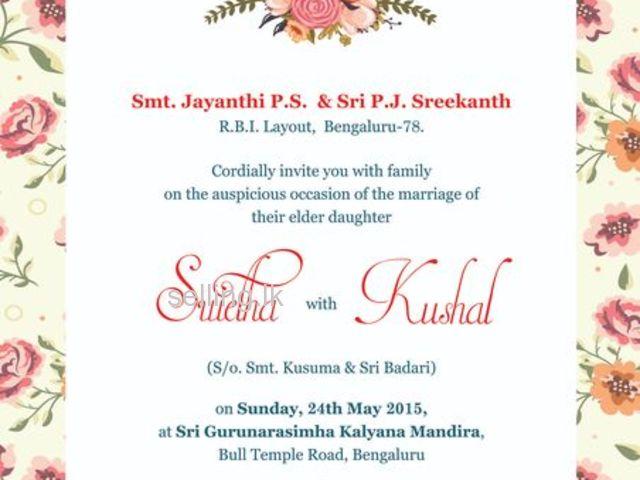 wedding card print