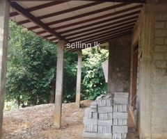 Land and half finish house for sell in Kadugannawa