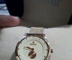 Gold Swistar Ladies Luxury Slim Watch