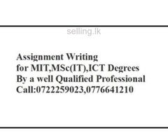 Assignment Writing MIT,IT Degrees, MSc(IT)