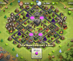 Clash of clan coc account town hall level 9