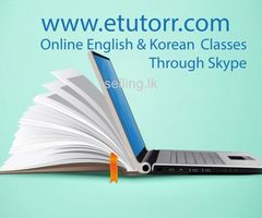 Online English and Korean Classes using Skype