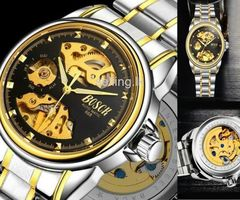 BOSCK Men's Hollow Mechanical Waterproof Business Wristwatches Rs 3000 Only