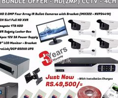 04CH 2MP CCTV System Installation