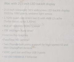 iMac (21.5-inch LED Backlit Display, Late 2013)