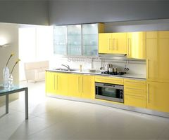 Pantry cupboards in colorful designs