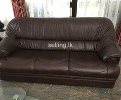 Imported leather 6 seater sofa set