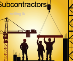 Sub contractor and house building