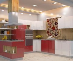 Colourful Kitchen Pantry Cupboards
