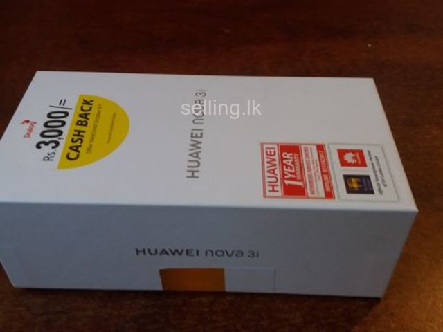 Unboxed Huawei Nova 3i for immediate sale