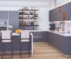 Stylish European Kitchen Pantry