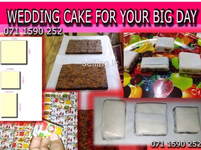 wedding cake rich cake pieces