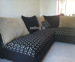 Bed, Sofa, almirah, dressing table, ironing cupboard