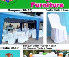 Marquee hire, Table and chairs hire, Party equipment hire