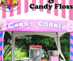 Pop Corn and Candy Floss Machine