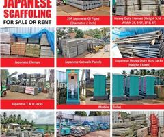 Japanese Scaffolding for Sale or Rent