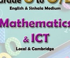 Mathematics & ICT for Grade 6 to O/L & A/L