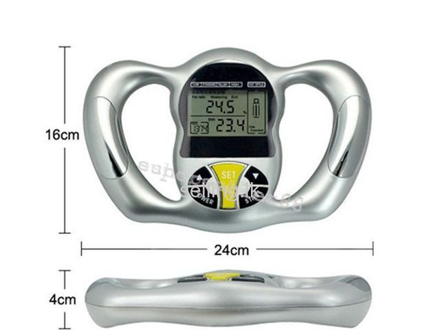 Digital Body Fat Tester Health Analyzer Meter