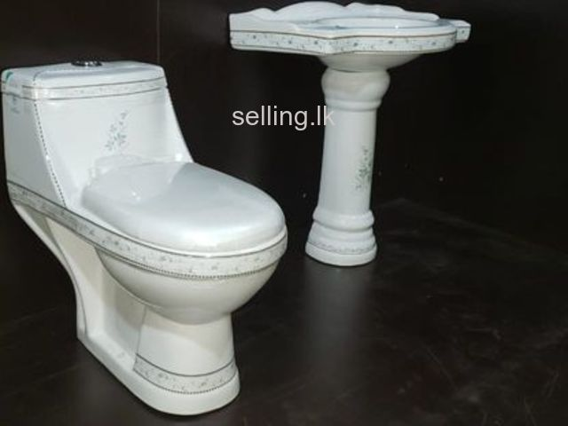 Commode with Wash Basin for sale