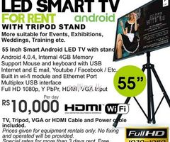 Smart LED TV for Rent with the Stand ( FullHD ) in Colombo, Sri Lanka by Rentstuffs - Maharagama