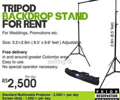 Tripod Backdrop Stand for Rent in Colombo, Sri Lanka by Rentstuffs - Maharagama