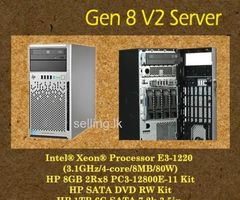 HP Ml310e gen8 server  for stock clearing