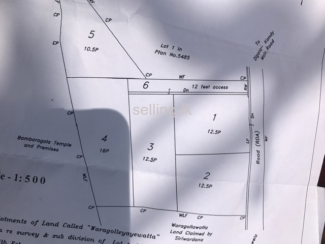 Land for sale in kandy digana