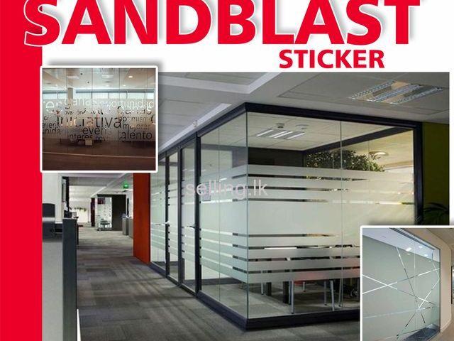 Sand Blast Sticker