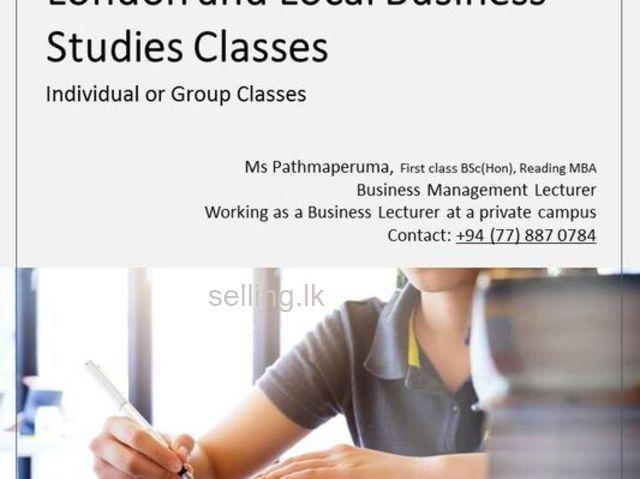 Business Studies Classes