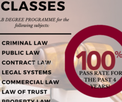 LLB Classes with 100% pass rate in the past 4 years
