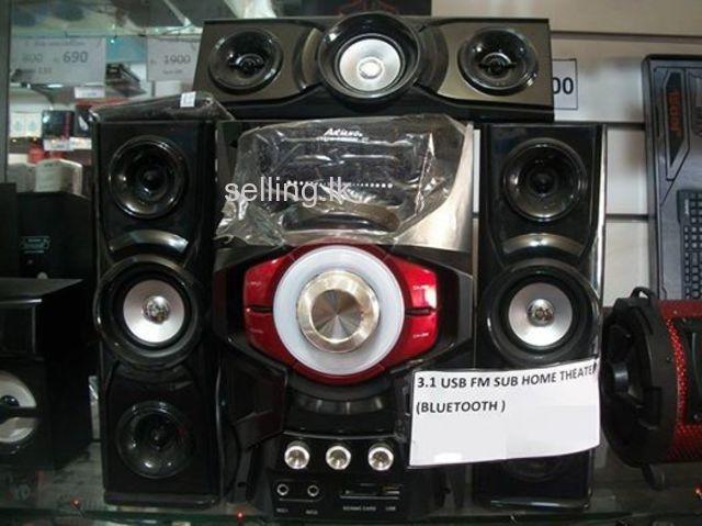 Ailiang speaker 3.1 home system speaker BLUETOOTH,MIC,FM,USB,MEMORY subwoofer